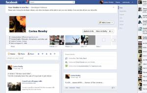 Facebook Timeline for corecorina