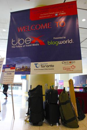 TBEX Suitcase Arrival